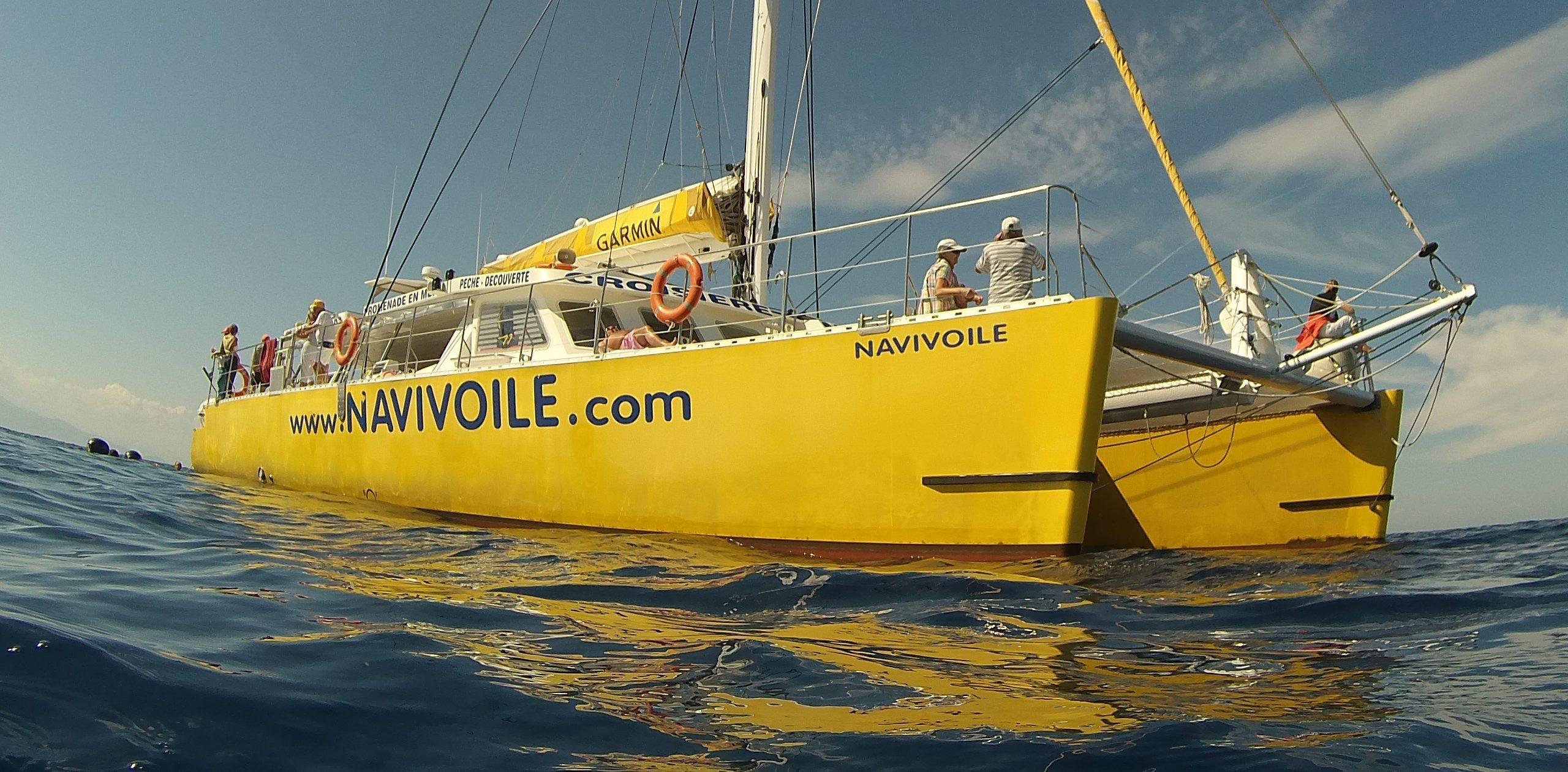 catamaran navivoile promenade en bateau dans les pyrenees orientales au depart de canet en roussillon et port vendres
