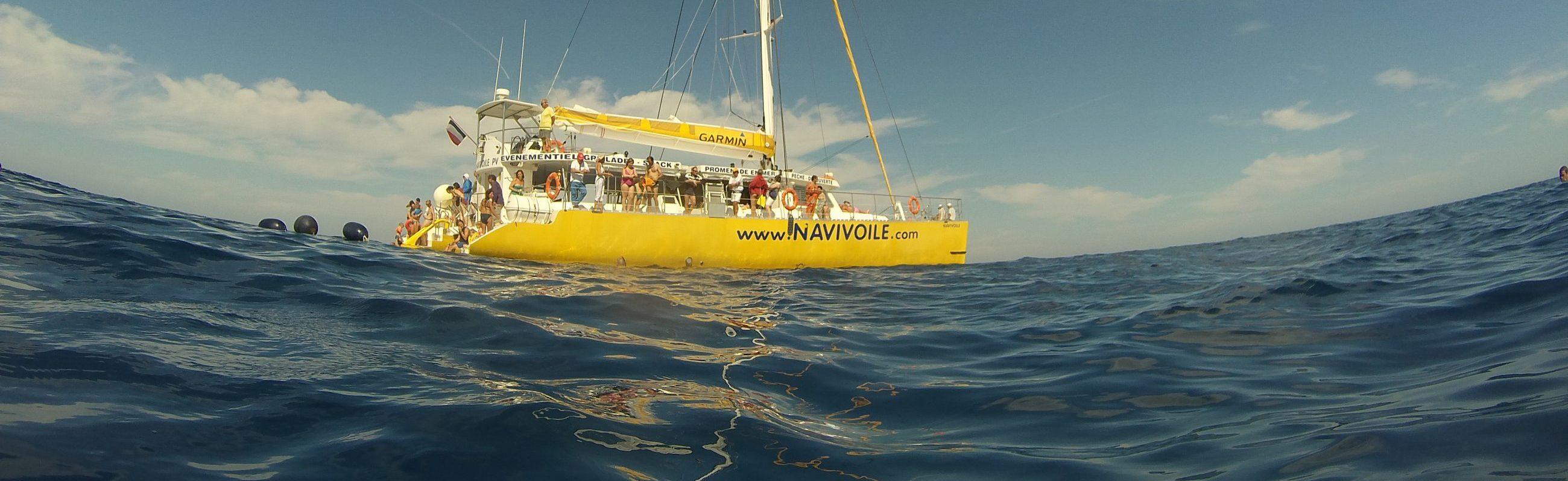 catamaran navivoile météo exceptionnelle au large de canet en roussillon