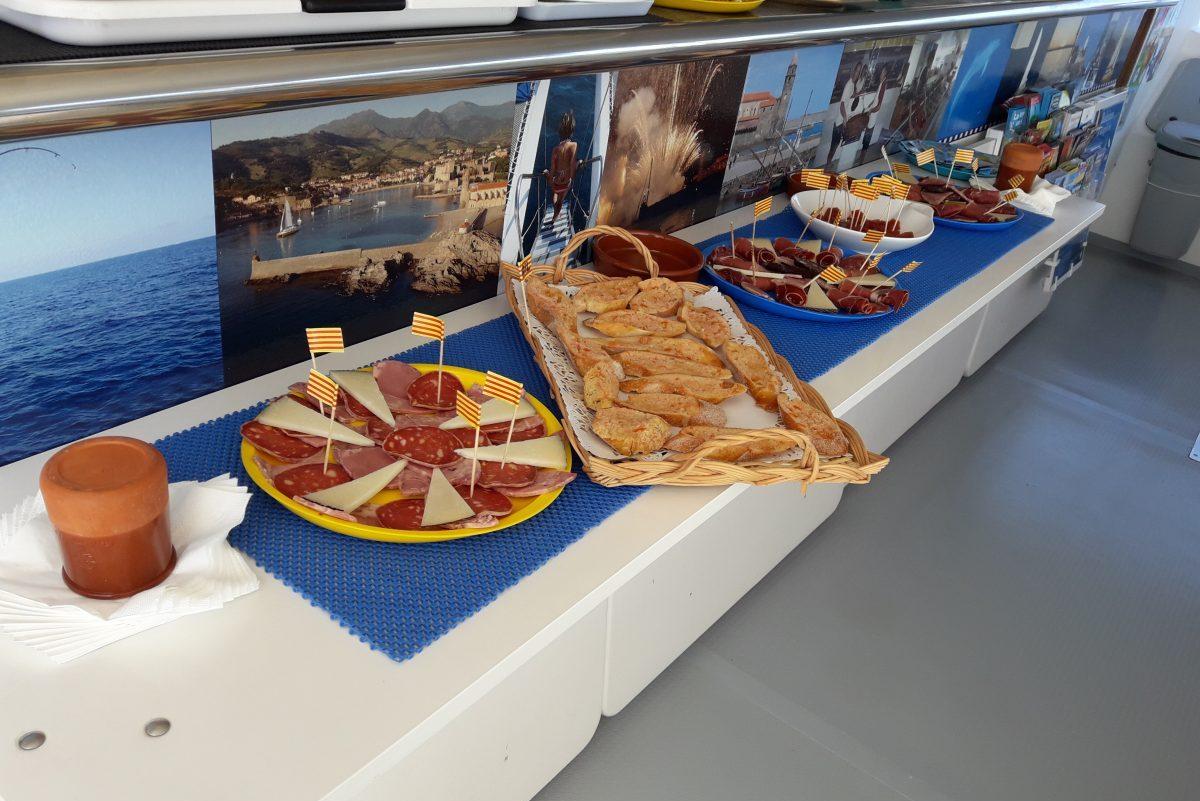 groupes de particuliers et entreprises apéritif catalan navivoile collioure