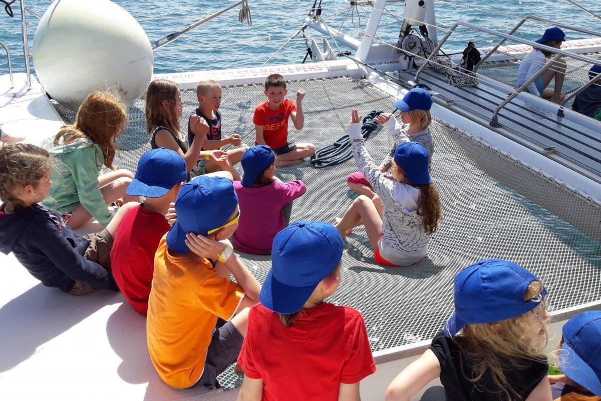 sortie scolaire catamaran navivoile départ canet en roussillon