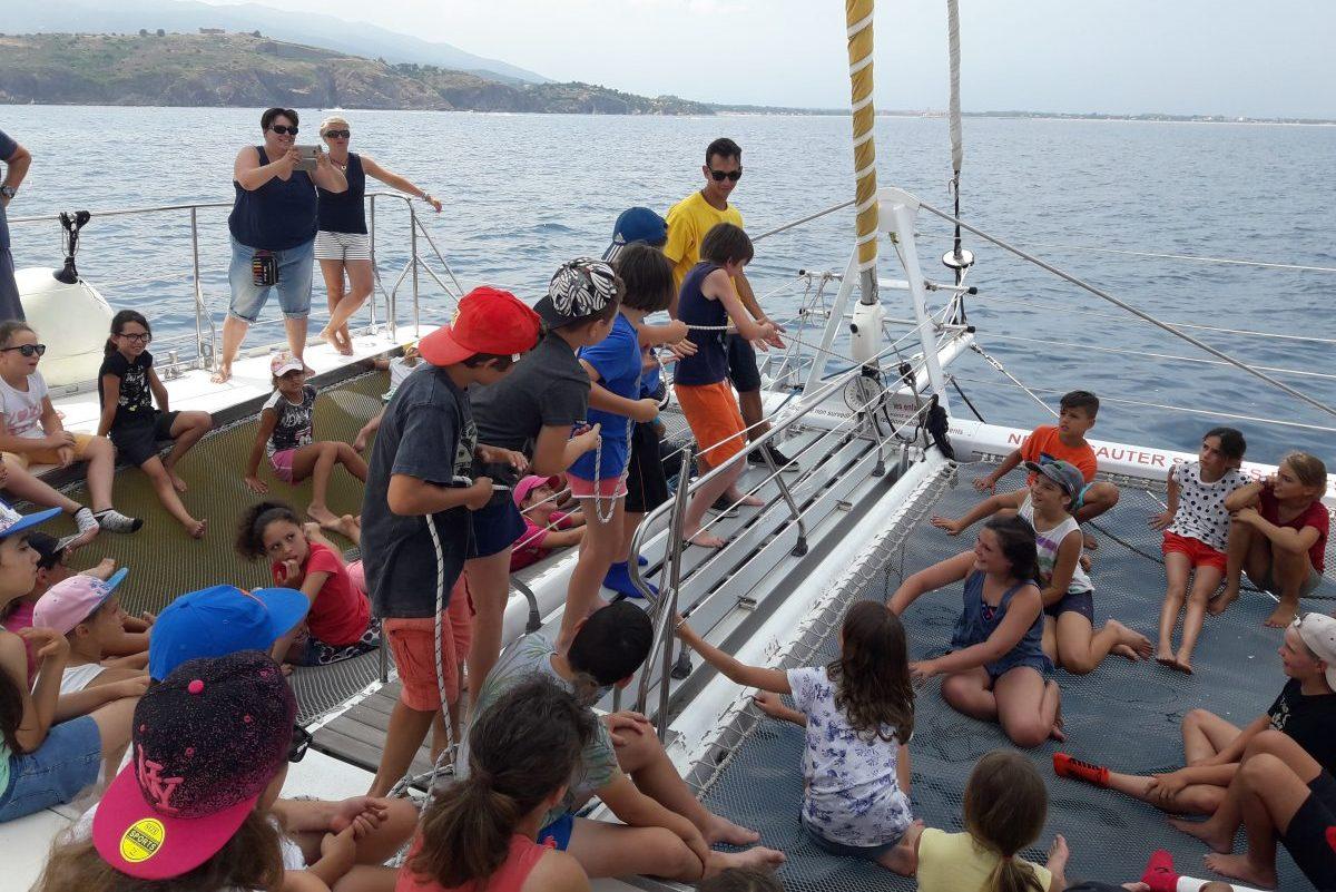 sortie scolaire navivoile canet en roussillon navigation sous voiles