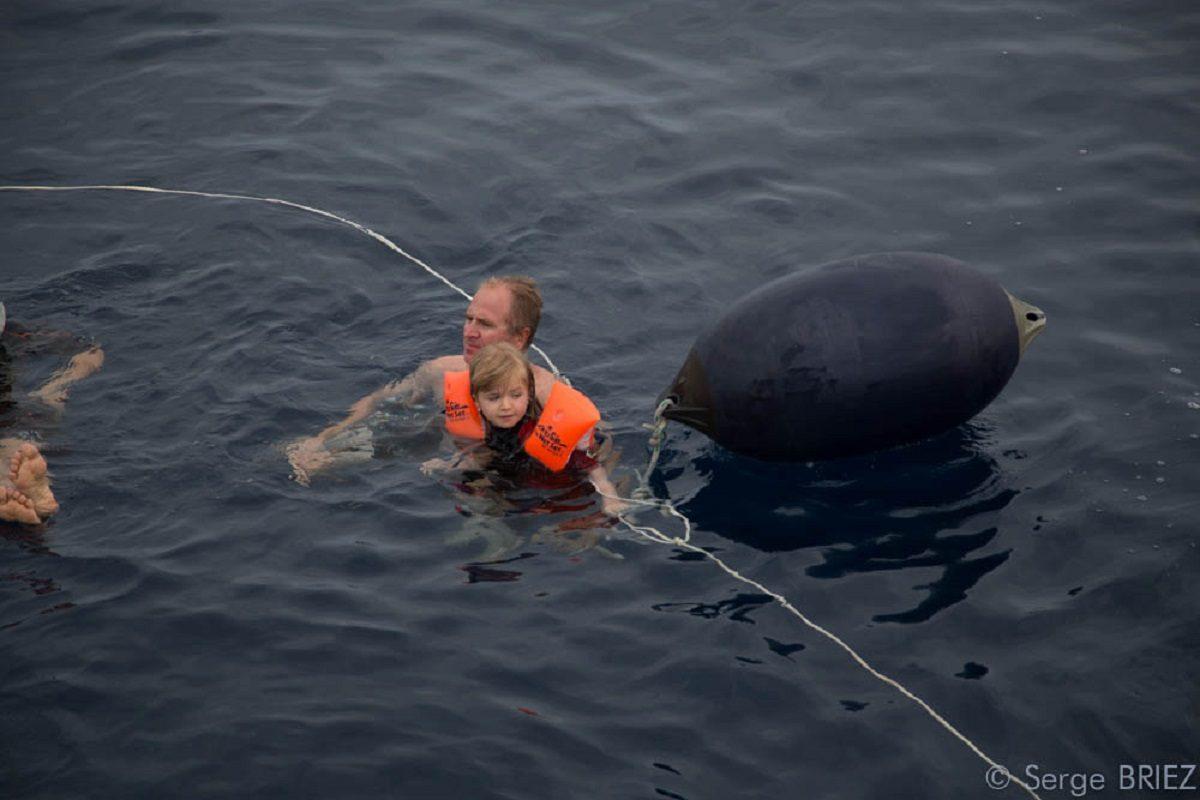 catamaran navivoile croisiere chante avec les dauphins au depart de canet en roussillon avec baignade au large par mer calme
