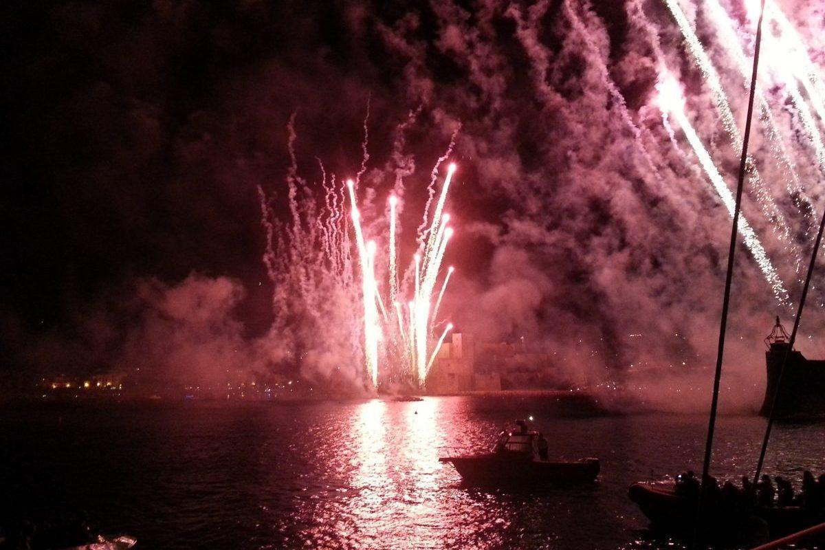 catamaran navivoile feu artifice de collioure du 16 août