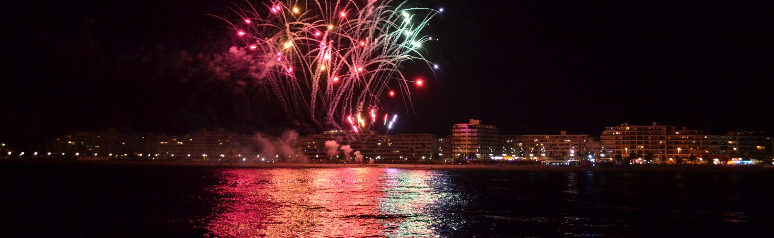 catamaran navivoile feu artifice du 13 juillet de canet en roussillon