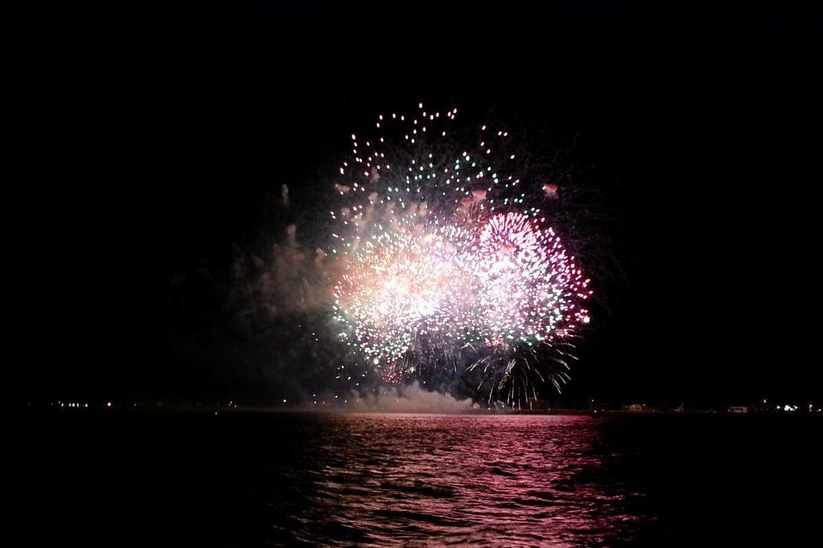 catamaran navivoile bon cadeau feu artifice du 14 juillet de sainte marie la mer