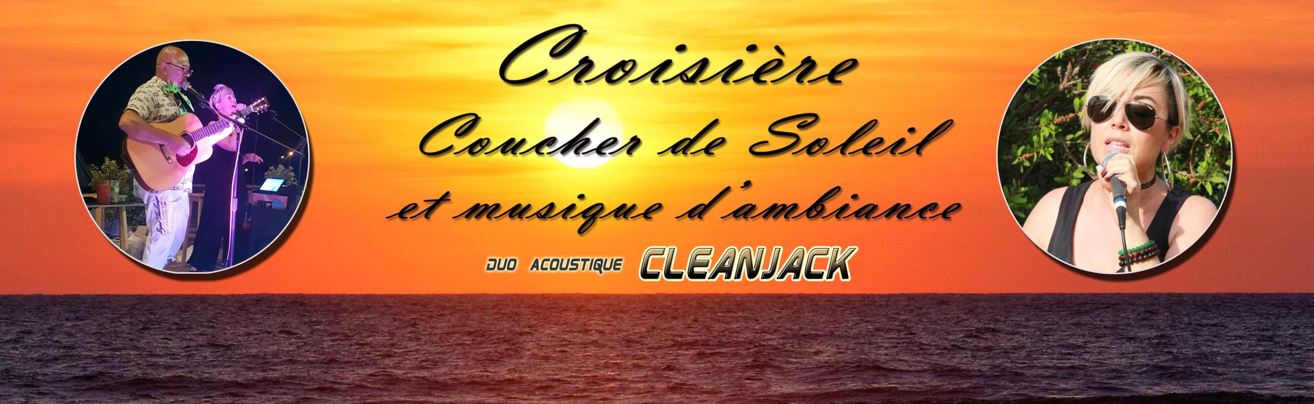 croisière coucher de soleil musical avec le duo cleanjack à bord du catamaran navivoile au départ de canet en roussillon