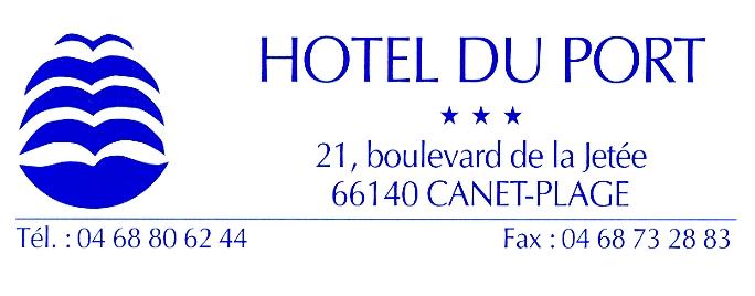 logo hotel du port canet en roussillon